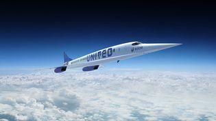 """Le projet du futur avion américain supersonique """"Overture"""". (- / BOOM SUPERSONIC / AFP)"""