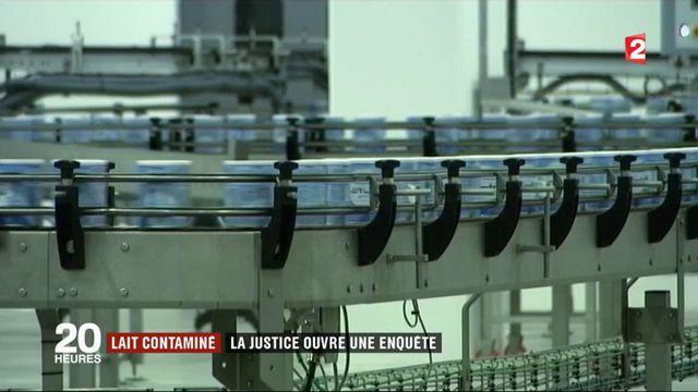 Lait contaminé : la justice ouvre une enquête