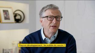 Bill Gates, fondateur de Microsoft, invité de franceinfo jeudi 28 janvier 2021.  (FRANCEINFO / RADIO FRANCE)