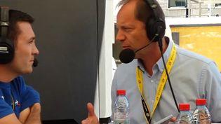 Dimanche, les coureurs du Tour de France ne pourront pas vraiment regarder la finale de la Coupe du monde de football, explique le directeur du Tour Christian Prudhomme. (FRANCEINFO)