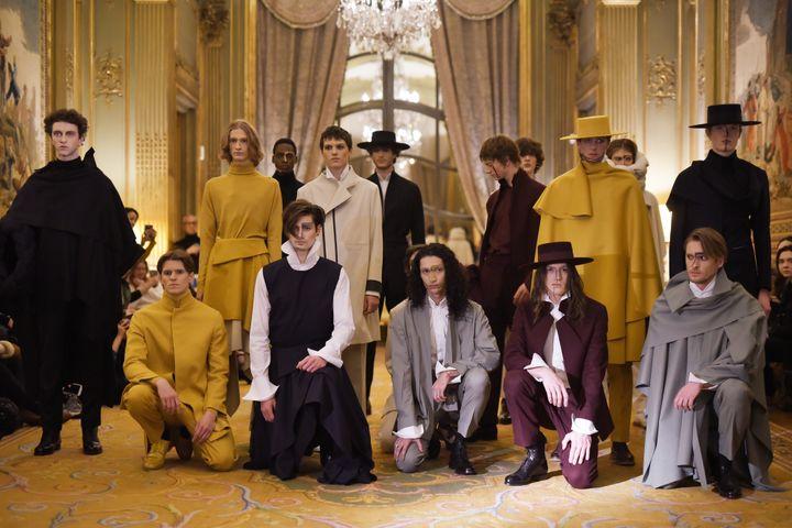 Défilé Oteyza automne-hiver 2020-21 à la Paris Fashion Week, le 15 janvier 2020 (FOLDI STEFAN DACIAN)