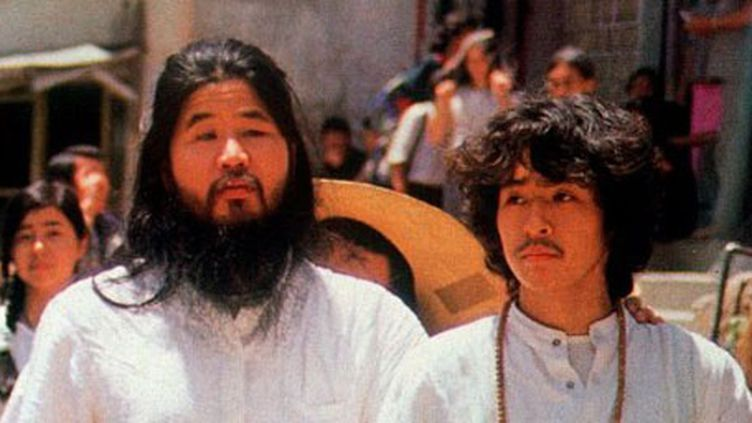 Le gourou de la secte Aum, Shoko Asahara, et un adepte (Ria Novosti)