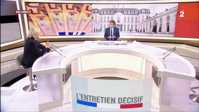 """Marine Le Pen dans """"L'Entretien exclusif"""""""