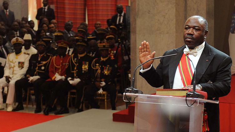 Le président gabonais, Ali Bongo, le 27 septembre 2016 à Libreville (Gabon). (JEREMI MBA / AP / SIPA)