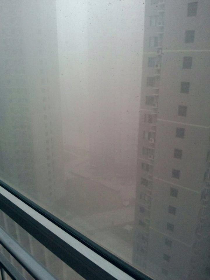 Photo prise par un ami de Yufu à la fenêtre de son appartement fin décembre 2013. (YUFU)