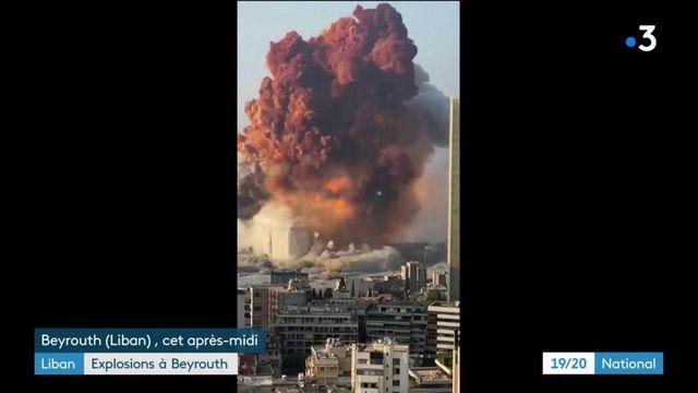 Explosions à Beyrouth : les premières images