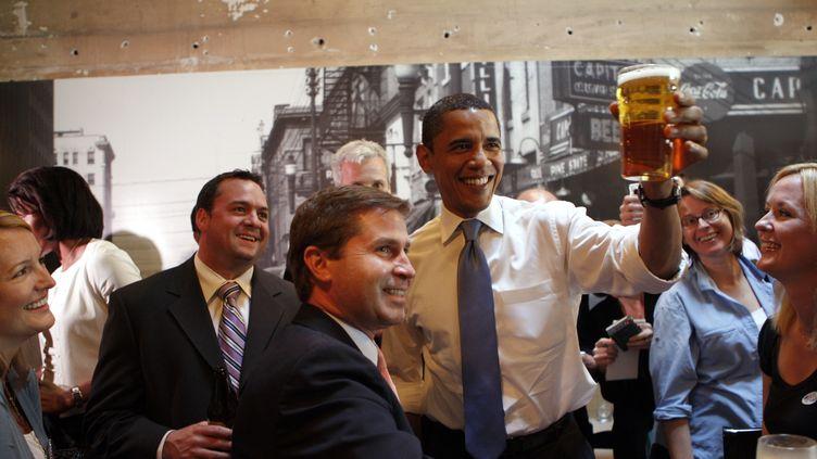 Barack Obama, en mai 2008, en Caroline-du-Nord. (EMMANUEL DUNAND / AFP)