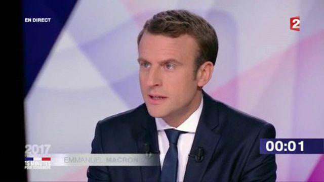 """Présidentielle : revivez le passage d'Emmanuel Macron dans """"15 minutes pour convaincre"""" sur France 2"""