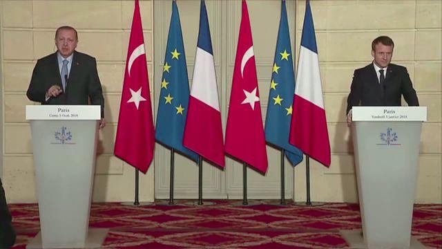 """Quand le président Erdogan s'énerve contre un journaliste d'""""Envoyé spécial"""" après une question sur la Syrie"""