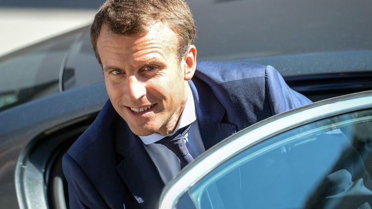 """Emmanuel Macron a démissionnépour se consacrer à son mouvement """"En Marche!"""" et parce qu'il ne,voulait plus se conformer aux règles fixées par FrançoisHollande pour rester au gouvernement (SEBASTIEN BOZON / AFP)"""
