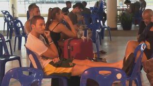 Un touriste bloqué en Thailande. (France 2)