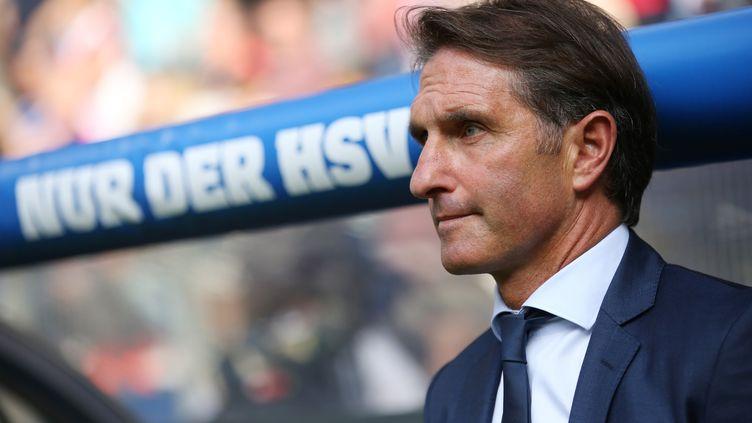 Bruno Labbadia aura dirigé son dernier match sur le banc d'Hambourg face au Bayern (CHRISTIAN CHARISIUS / DPA)