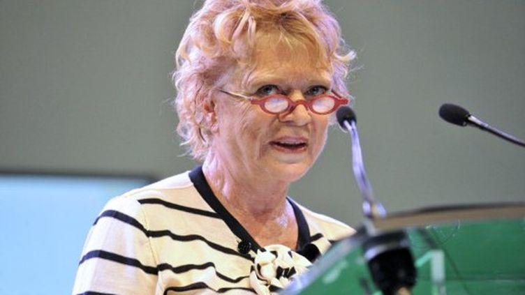 Eva Joly est crédité de 6% d'intentions de vote dans les sondages. (AFP - Thierry Zoccolan)