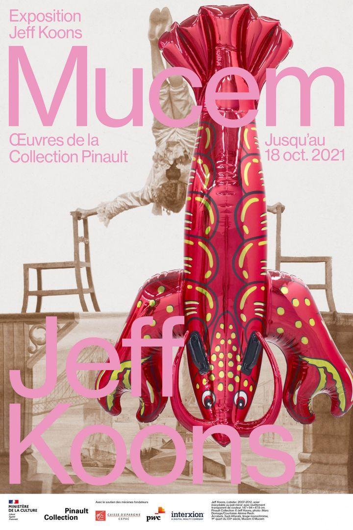 """""""Jeff Koons Mucem - Oeuvres de la Collection Pinault"""" du 15 mai au 18 octobre 2021. (Mucem - Jeff Koons)"""