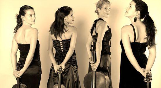 Les quatre filles du quatuor Arranoa  (Ludovic Zeller - Studio Z )