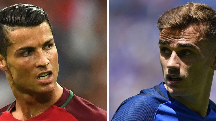 Cristiano Ronaldo et Antoine Griezmann (MARTIN BUREAU,FRANCISCO LEONG / AFP)