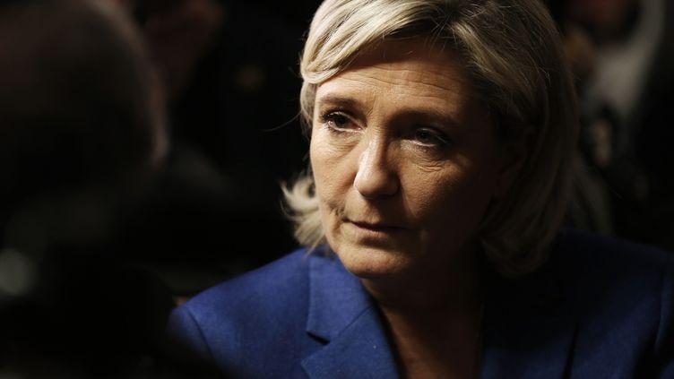 Marine Le Pen, le 6 janvier 2017, à Igoville (Eure). (CHARLY TRIBALLEAU / AFP)