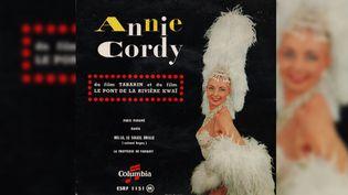 """Le 45 tours d'Annie Cordy avec """"Hello, le soleil brille"""". (DR)"""