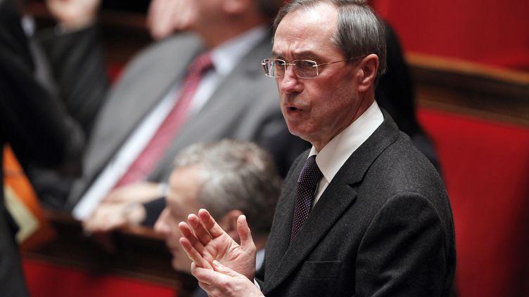 Le ministre de l'Intérieur Claude Guéant à l'Assemblée nationale (Paris) le 31 janvier 2012. (PATRICK KOVARIK / AFP)