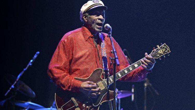 Chuck Berry sur scène en 2013 àMontevideo (Uruguay)  (PABLO PORCIUNCULA / AFP)