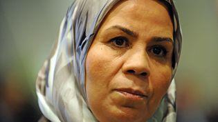 Latifa Ibn Ziaten, mère d'une des victimes de Mohamed Merah, en février 2014, à Toulouse (Haute-Garonne). (REMY GABALDA / AFP)