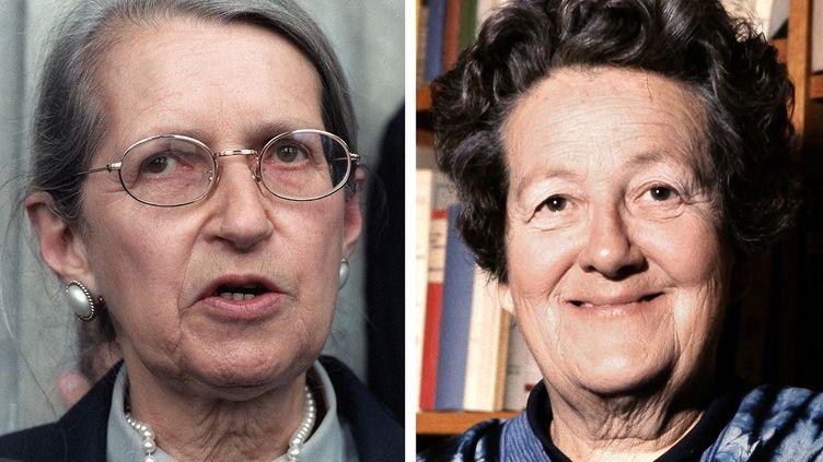 Geneviève de Gaulle-Anthonioz en 1987, et Germaine Tillion en 1972. (AFP)