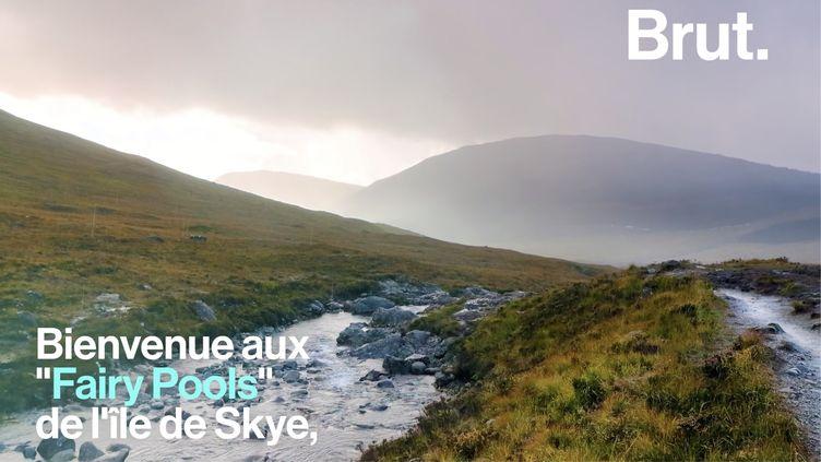 """VIDEO. Les """"Fairy Pools"""" de l'île de Skye, un lieu magique en Écosse (BRUT)"""
