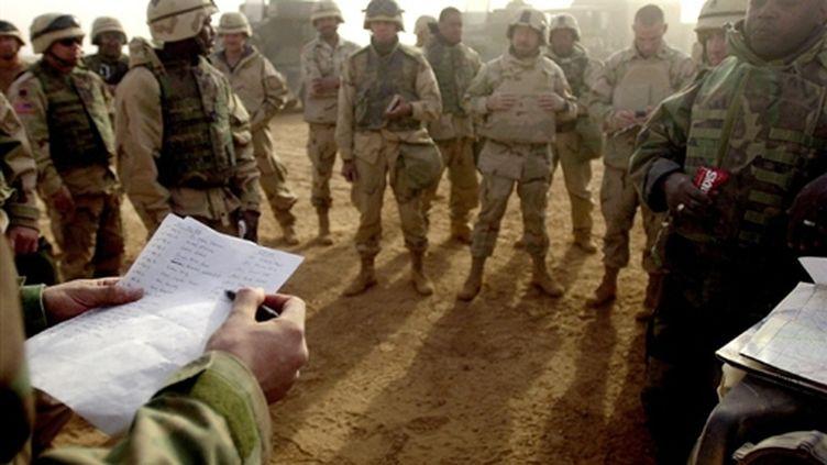 Militaires américains dans le sud-ouest de l'Irak (archive) (AFP - Jim Watson)
