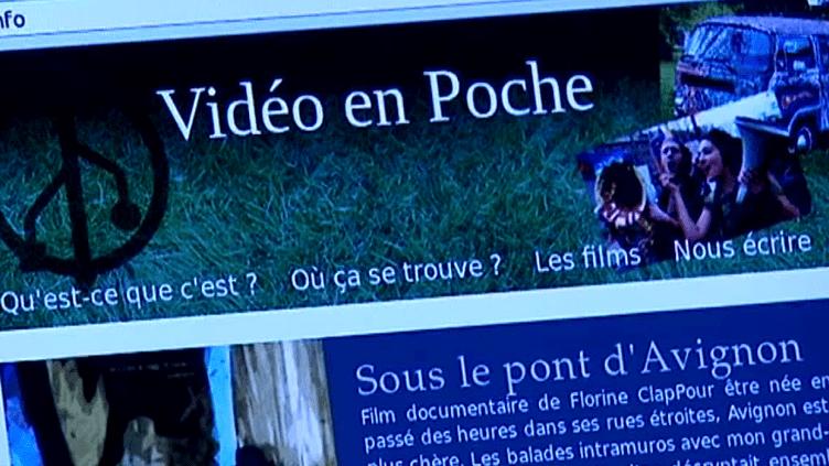 site internet de Vidéo en Poche  (France 3 / capture d'écran)