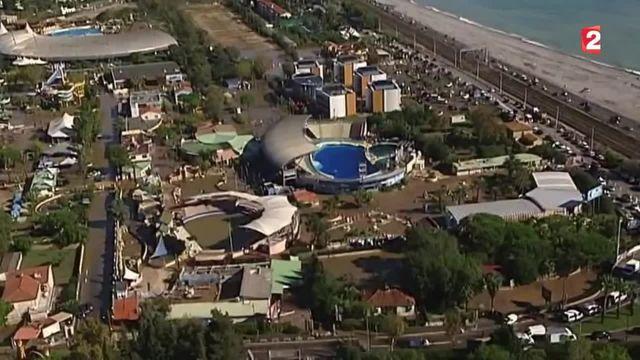 Le parc aquatique Marineland, lui aussi touché par les intempéries