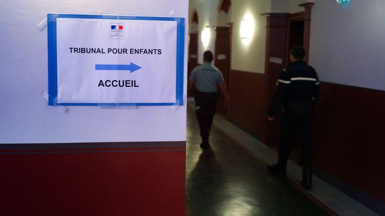 L'entrée du tribunal pour enfants à Mulhouse (Haut-Rhin) le 26 juin 2013. (SEBASTIEN BOZON / AFP)