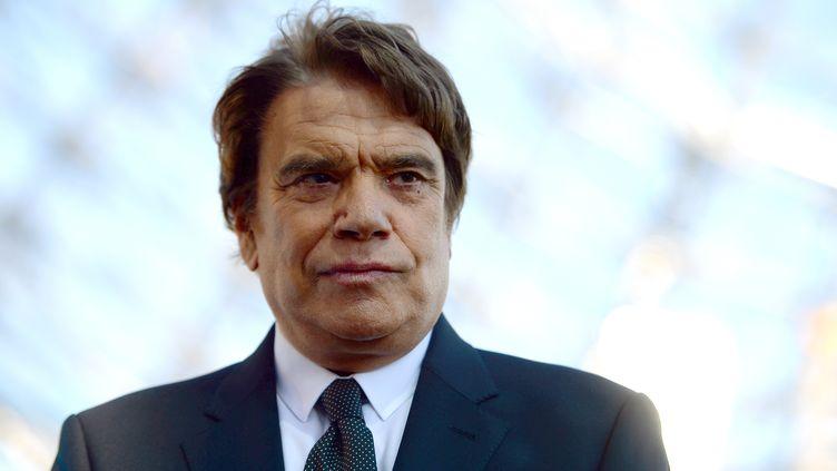 L'homme d'affaires Bernard Tapie, le 26 mai 2013 à Marseille (Bouches-du-Rhône) pour les festivités marquant l'anniversaire du titre de l'Olympique de Marseille en Ligue des champions. (GERARD JULIEN / AFP)