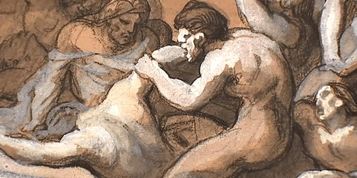 Version du tableau à laquelle Géricault a finalement renoncé en raison de la scène de cannibalisme  (Musée du Louvre)