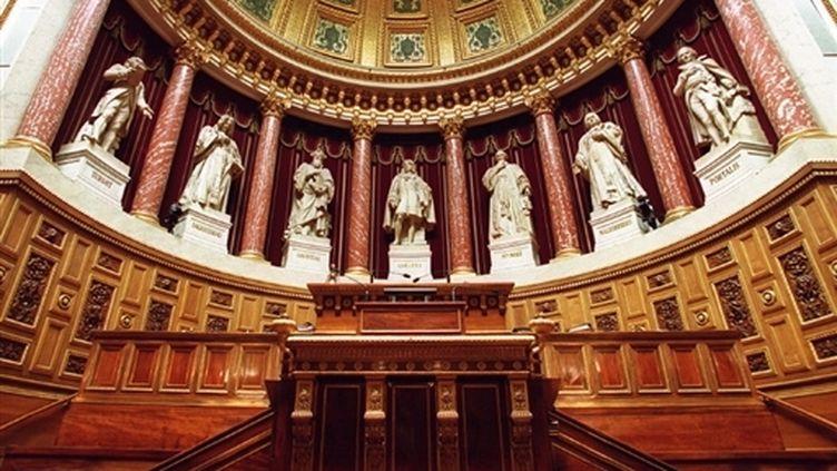 """Le """"perchoir"""" du Sénat, lieu où siège, lors des séances, le président de l'institution (AFP / Jean-Pierre Muller)"""