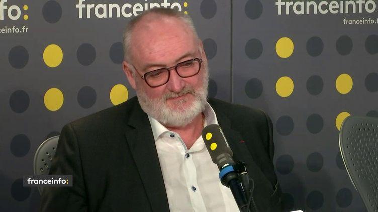 Patrick Liébus, président de la Confédération de l'artisanat et des petites entreprises du bâtiment, le 10 janvier sur franceinfo. (FRANCEINFO / RADIO FRANCE)