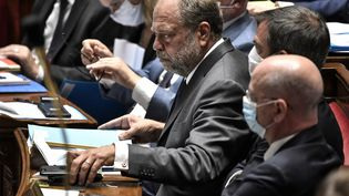 Le ministre de la Justice, Eric Dupond-Moretti, à l'Assemblée nationale, le 28 juillet 2020. (STEPHANE DE SAKUTIN / AFP)