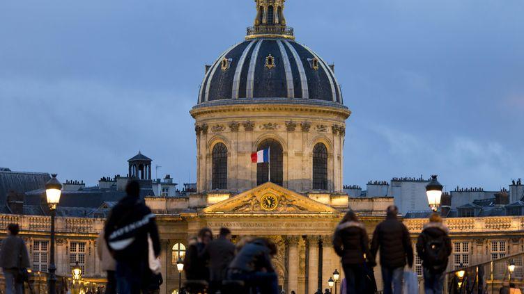 L'Institut de France, qui abrite l'Académie française, quai de Conti, à Paris, le 1er février 2016. (KENZO TRIBOUILLARD / AFP)