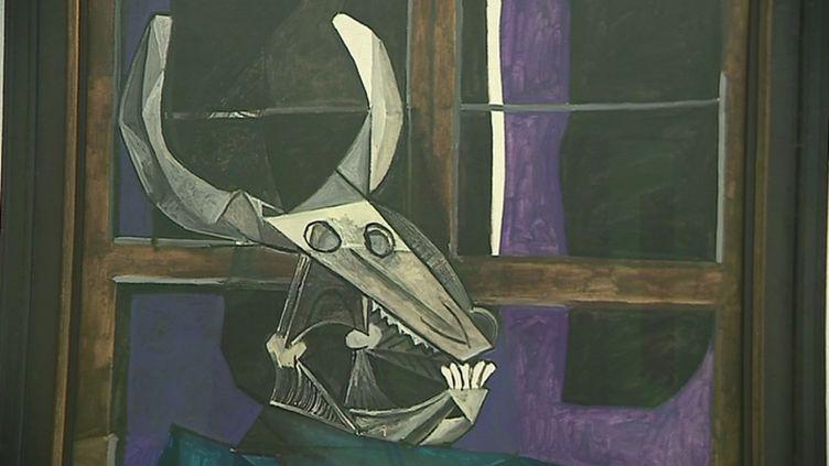"""""""Nature morte au crâne de taureau"""", peinte en 1942 par Picasso en hommage à son ami catalan Julio Gonzalez. (CAPTURE D'ÉCRAN FRANCE 3)"""
