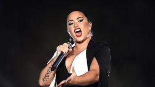 Demi Lovato à Lisbonne, le 24 juin 2018 (MIGUEL RIOPA / AFP)