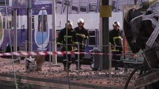 Catastrophe ferroviaire à Brétigny-sur-Orge. (CAPTURE D'ÉCRAN FRANCE 3)