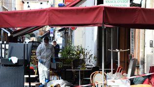 Une fusillade a fait un mort et cinq blessés à Marseille, le 13 septembre 2015. (ANNE-CHRISTINE POUJOULAT / AFP)