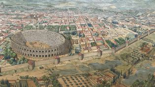 Restitution de Nîmes par Jean-Claude Golvin.   (Jean-Claude Golvin)
