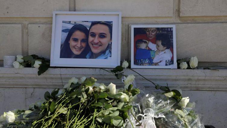 Cérémonie en hommage à Mauranne et Laura, cousines, assassinées le 01 Octobre 2017, à la Gare Saint-Charles à Marseille. (MAXPPP)