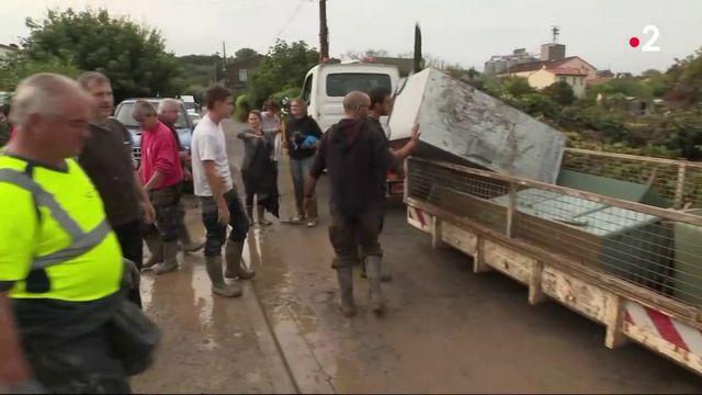 Inondations dans l'Aude : le reconstruction s'annonce longue à Trèbes