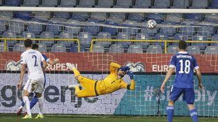 Hugo Lloris décisif avec les Bleus face à la Bosnie-Herzégovine le 31 mars 2021 (PHOTOPQR/LE PARISIEN/MAXPPP) (OLIVIER CORSAN / MAXPPP)