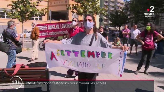 Italie : des manifestations pour la réouverture des écoles
