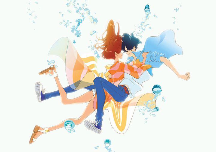 """Hinako et Minato, les deux héros du film d'animation """"Ride Your Wave"""" de Masaaki Yuasa. (ALBA FILMS)"""