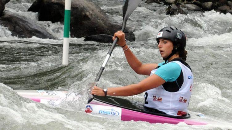 La kayakiste et céiste australienne Jessica Fox en action (FLORENT RAOUL / MAXPPP TEAMSHOOT)