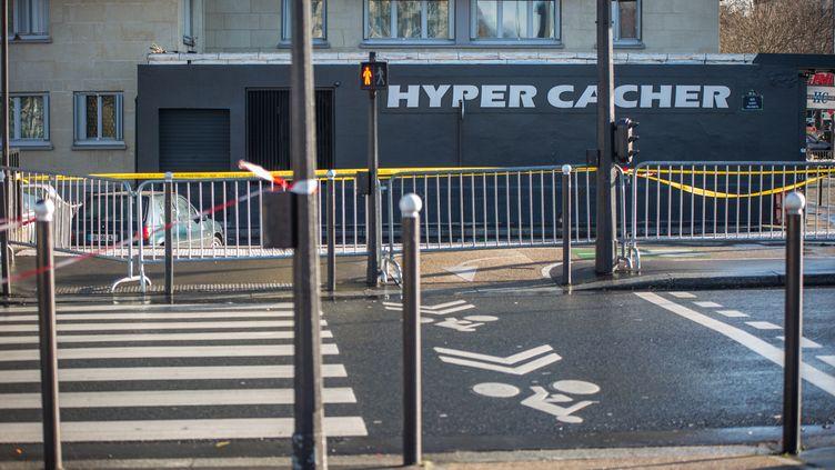 Le magasin Hyper Cacher, à Vincennes (Val-de-Marne), près de Paris, où a eu lieu un attentat en janvier 2015. (MICHAEL BUNEL / NURPHOTO / AFP)
