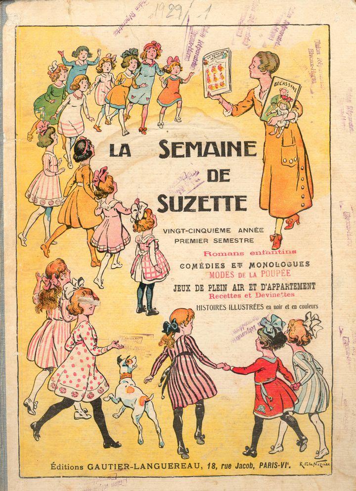 """""""Bécassine dévoile les trésors de Loulotte"""": couv de """"La semaine de Suzette""""  (Musée de la Poupée-Paris)"""
